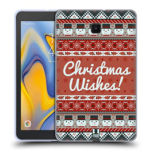 (Head Case Designs Snowman Wishes Christmas Aztec Soft Gel Case Compatible for Galaxy Tab A 8.0 (2018))