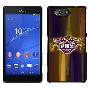 PHX Baloncesto - Metal de aluminio y de plástico duro Caja del teléfono - Negro - Sony Xperia Z4v / Sony Xperia Z4 / E6508