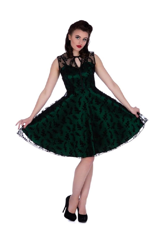 Vintage Cocktail Dresses, Party Dresses, Prom Dresses New Emerald Lace Voodoo Vixen 50s Rockabilly Vintage Cocktail Party Dress £49.99 AT vintagedancer.com