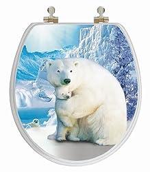 TOPSEAT 6TS3R1551CP 3D Polar Bear Toilet Seat