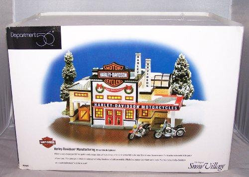 Department 56 Snow Village Harley Davidson Manufacturing
