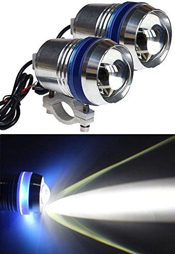 LUMINTURS® Pack=2 12V 30W U3 Blue-Angel-eyes LED Spot Driving Light Bicycle Motorcycle Car Boat Headlight Travel Camp Lamp waterproof IP67