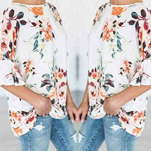 Amazon.com: YKARITIANNA Womens Summer Casual Floral Printing T-Shirt Short Sleeve Chiffon Tops Blouse: Arts, Crafts & Sewing