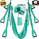 Aerial Yoga Swing Set – Yoga Hammock – Aerial Trapeze Kit + 2 Extension Straps & eBook – Large Flying Yoga Inversion Tool – Anti-Gravity Hanging Yoga Sling – Indoor Outdoor Fly Yoga – Men Women Kids For Sale