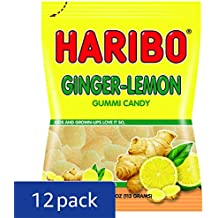 Haribo Gummi Candy, Ginger Lemon, 4 oz. Bag (Pack of 12)