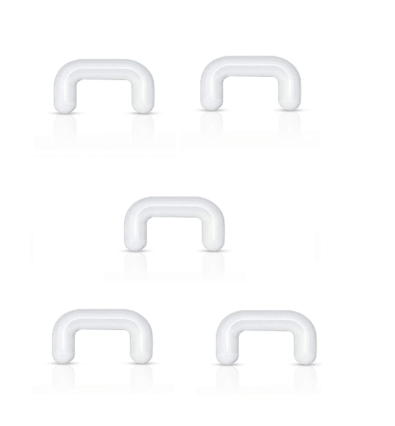 (5pcs) Clear Acrylic Septum Retainer 16g 1/4