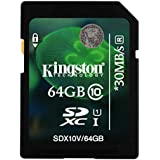 Kingston 64GB SDXC Class 10 UHS Memory Card For Nikon D3300