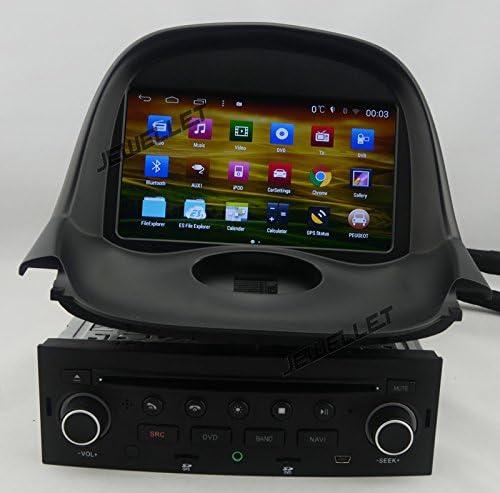 Quad Core 1024 * 600 HD pantalla Android DVD para Peugeot 206 2004 – 2008 de navegación GPS con 3 G/WIFI DVR Espejo Link 1080P de DAB: Amazon.es: Electrónica