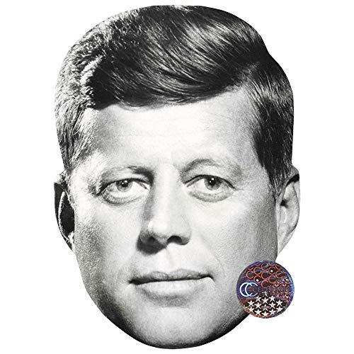 JFK (BW) Celebrity Mask, Card Face and Fancy Dress Mask]()
