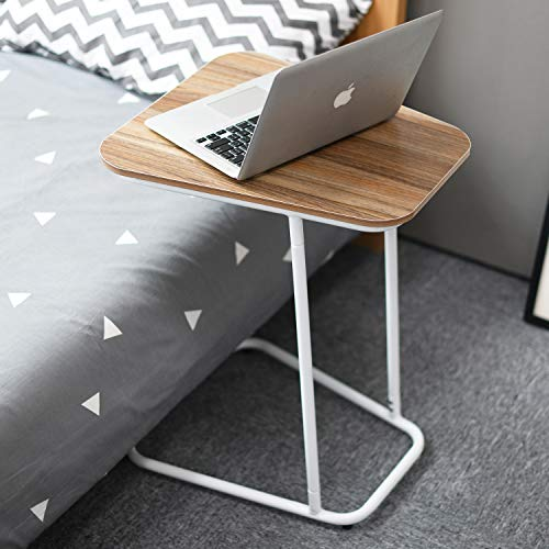 Soges Small End Table, Sofa Side Snack Table, Modern Coffee Table, Nightstand, Laptop Desk for Eating Reading, Ideal for Living Room, Dining Room, Bedroom, Oak, ZS-CA1-OK