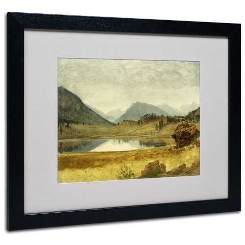 Bierstadt Frame Canvas - Wind River Country Canvas Wall Art by Albert Bierstadt with Black Frame, 16 by 20-Inch