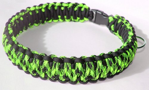 "SENC 550 King Cobra Paracord Dog Collar with Side Release Buckle - Zombie Camo/Black (21"" - (Buckle Tip to Buckle Tip))"