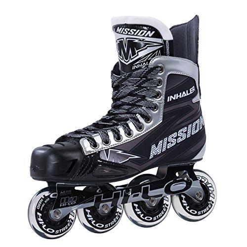 Senior In Line Hockey Skates - Bauer Mission Senior RH Inhaler Nls 06 Hockey Skate, Black, E 09.0