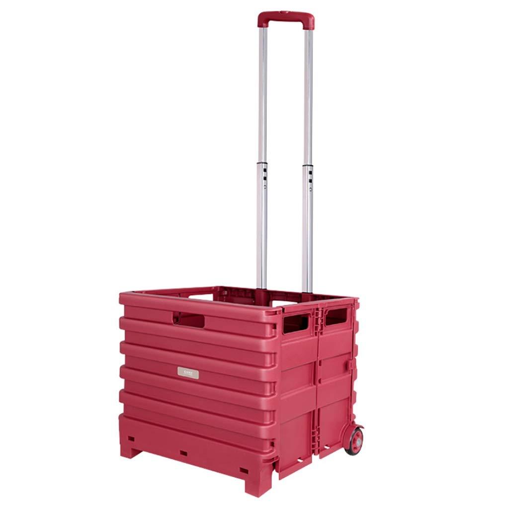 【アウトレット☆送料無料】 2つの車輪軸受けが付いている赤い正方形の折る買物車 B07QQ2JB6L、軽量の66ポンド容量折りたたみ手箱のスーツケース、多目的折りたたみ式ユーティリティカート伸縮ハンドル B07QQ2JB6L, 近江八幡市:17ef0554 --- a0267596.xsph.ru