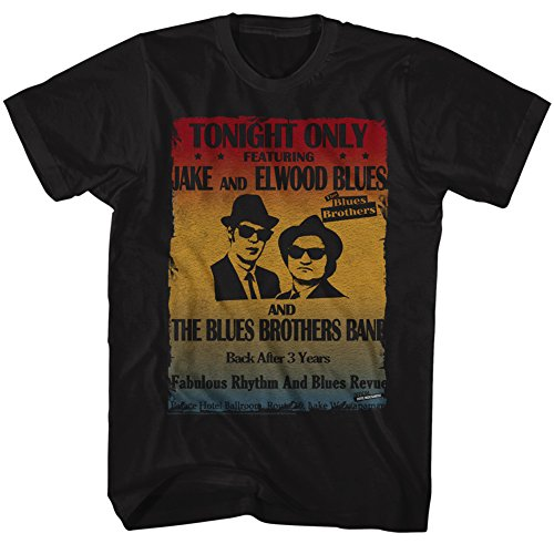 Blues Brothers - Mens Poster T-Shirt, Size: XXX-Large, Color: Black