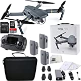 DJI Mavic Pro Collapsible Quadcopter Drone Ultimate Travel Bundle Includes Manufacturers Accessories PLUS 2 Intelligent Flight Batteries + More