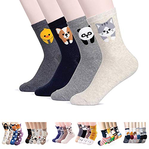 Womens Casual Socks - Cute Crazy Lovely Animal Cats Dogs Owls Art Pattern Good for Gift (PangPang) -
