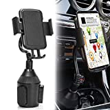 KIOOIK Car Universal Cup Holder Phone Mount Adjustable Gooseneck Portable Cell Phone Holder Fits Any Size Smartphones
