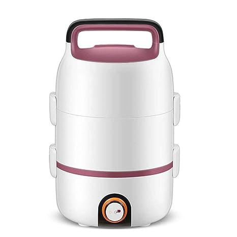 Sarazong Fiambrera eléctrica, de Doble Capa, de Acero Inoxidable, Aislamiento Interno enchufable, calefacción, Fiambrera, Olla arrocera, calefacción ...