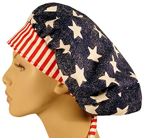 Designer Bouffant Medical Scrub Cap - American Pride