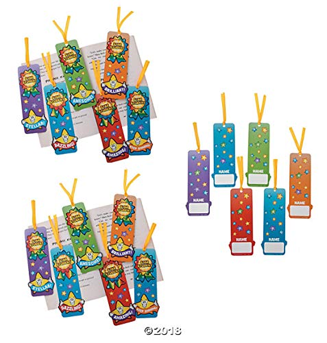 8 Dozen (96) Star Student Bookmarks ~ Classroom Incentives/Teacher / Student/Reward / Party Favors