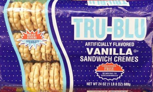 24oz Tru Blu Sandwich Cremes Cookies Vanilla, Pack of 2