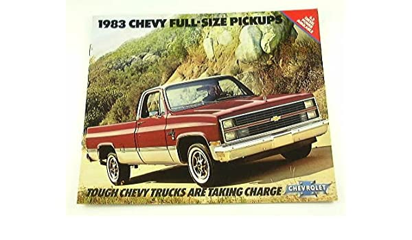 Amazon com: 1983 83 Chevrolet CHEVY PICKUP Truck BROCHURE