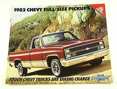 1983 83 Chevrolet CHEVY PICKUP Truck BROCHURE C10 K20