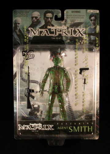 AGENT SMITH * MATRIX CODE * Variant Action Figure & Accessories from the film THE MATRIX