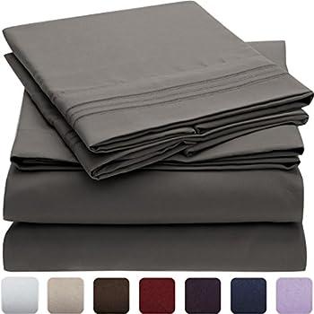 Amazoncom Mellanni Bed Sheet Set Brushed Microfiber 1800 Bedding