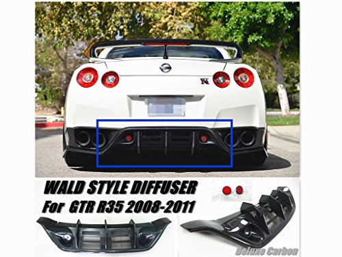 2008-11 GTR R35 Rear Diffuser/WD Style Carbon Fiber Diffuser - Wing Gtr Style Rear