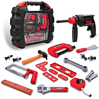 Amazon Com Durable Kids Tool Set With Electronic Cordless