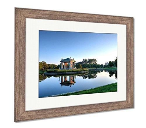 Ashley Framed Prints Forest Park Bandstand In St Louis Missouri, Wall Art Home Decoration, Color, 26x30 (frame size), Rustic Barn Wood Frame, AG6543121 - Missouri Art Glass Frame