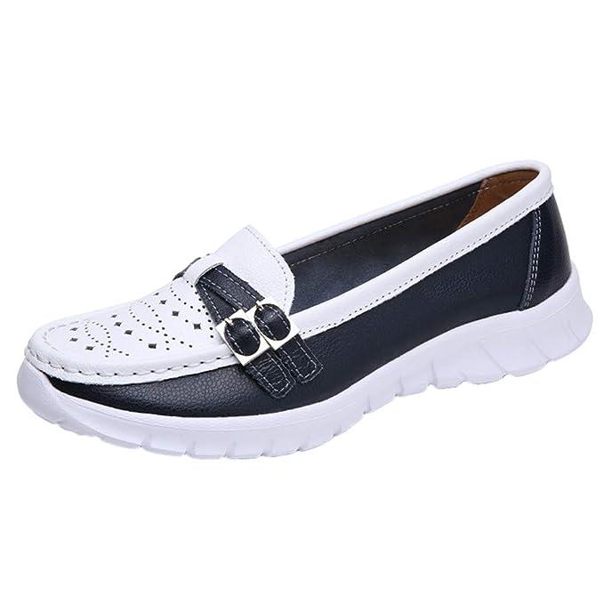 Zapatos Mujer Verano ❤️Absolute Calzado Deportivo de Cuero para Mujer Zapatos al Aire Libre Planos