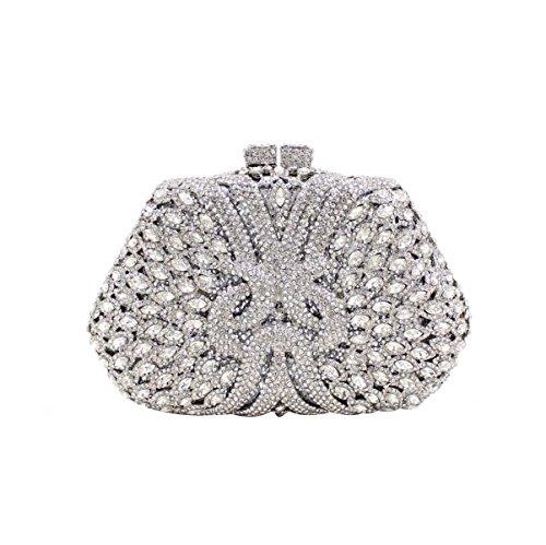 Diamant En Main Sac Sac Pour En Femmes Luxe Silver à à Main De Diamant H7F7qwB