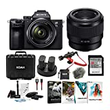 Sony a7 III Full Frame Mirrorless Camera with 28-70mm and FE 50mm f/1.8 Lens Bundle
