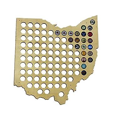 Ohio Beer Cap Map - Craft Beer Cap Holder