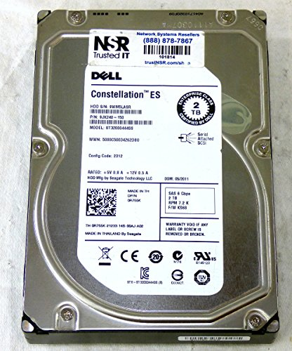 Dell – 2TB 7.2K RPM 6Gb/s 3.5″ SAS HD – Mfg # R755K (comes w/ drive & tray)