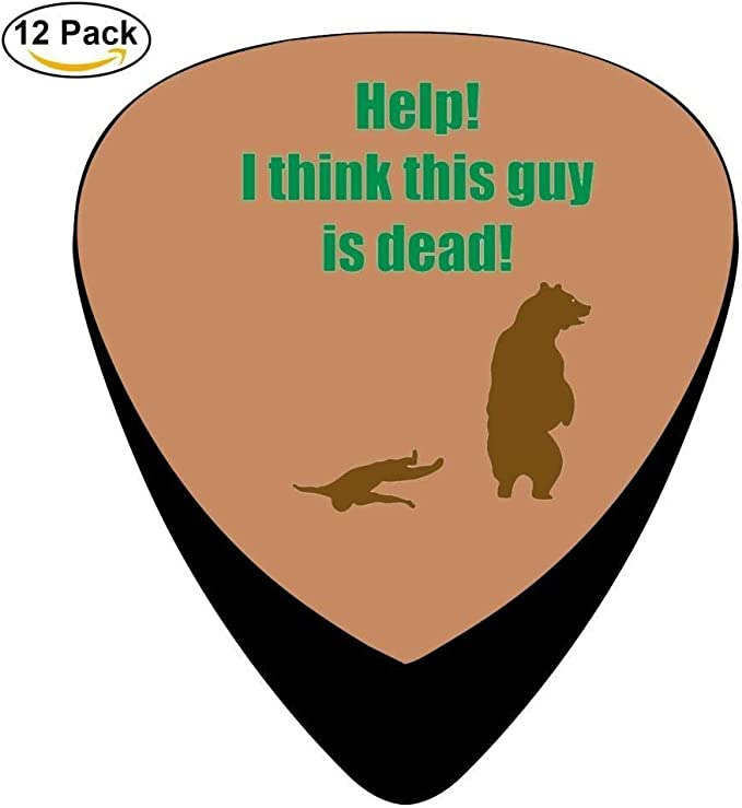 Help! I Think This Guy Is Dead! Celluloid Guitar Picks 12 Pack For Electric Acoustic Guitar: Amazon.es: Instrumentos musicales