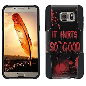 Samsung Galaxy Note 5 Hybrid Case It Hurts Soo Good on Black 2 Piece Style Silicone Case Cover with Stand for Samsung Galaxy Note 5