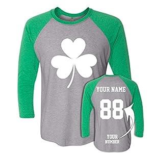 Custom Jersey Style St Patrick's Day T Shirts – Saint Pattys Tee & Irish Outfits