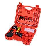 2 in 1 Brake Bleeder Kit Handheld Vacuum Pump Test Set for Automotive Tuner Tools with Adapters and Case by Podoy