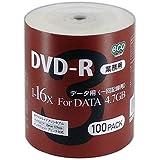 マグラボ データ用16倍速対応DVD-R 100枚パック4.7GB ホワイトプリンタブル DR47JNP100_BULK5