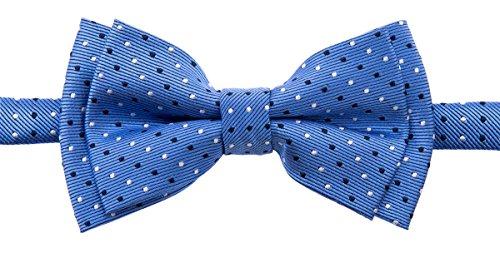 - Retreez Dual Color Mini Polka Dots Woven Microfiber Pre-tied Boy's Bow Tie - Blue - 24 months - 4 years