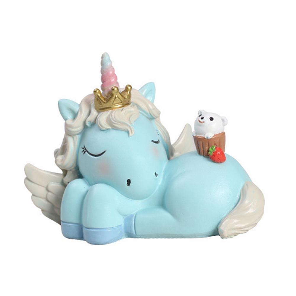 R/ésine Mariage et f/ête danniversaire Aolvo D/écorations festives licorne pour cupcakes /1/pcs bleu ciel 6.5X9CM