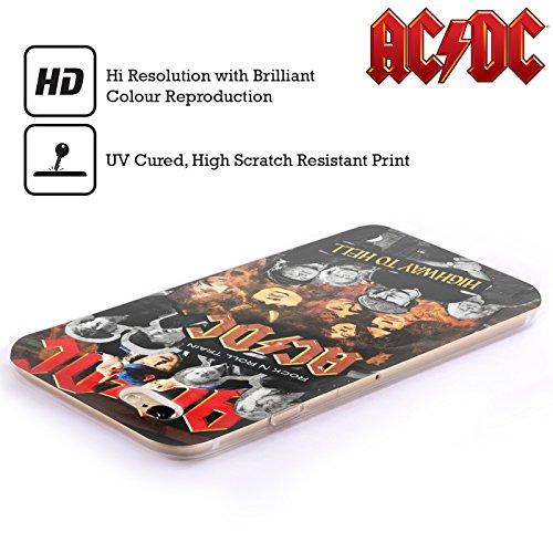 Officiel AC/DC ACDC Groupe Collage Étui Coque en Gel molle pour Apple iPhone 4 / 4S