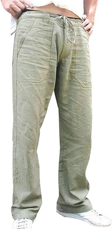 SUDADY Pantalones Hombre Verano, Pantalones de Trabajo para Hombre ...