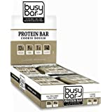 Busy Bar, Grass Fed Whey Protein Bar, Cookie Dough, Only 1g of Sugar, 13g of Protein, Only 140 Calories, Gluten Free, Low Carb Bar, Soy Free, Non-GMO, Perfect Snack On-the-Go (12 bars)