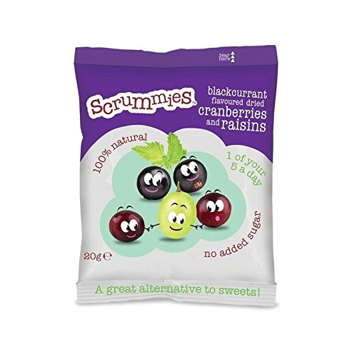 Scrummies Blackcurrant Flavour Cranberries & Raisins 20g by CLEARLY SCRUMPTIOUS (Image #1)
