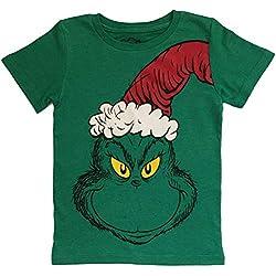 Dr Seuss Grinch Little Boys Toddler T Shirt (5T, Short Sleeve)
